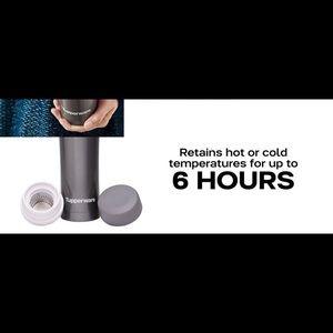 Tupperware Kitchen - Tupperware metallic flask with strainer